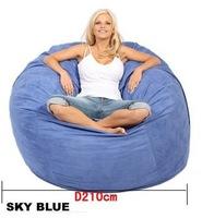foam bag cover lazy sofa round bean bag cover D210cm foam sofa Free shipping