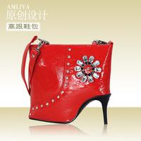 Amelia women's handbag fashion shoulder bag handbag messenger bag women's handbag high-heeled shoes shaped bag