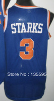 Free Shipping,Cheap Sale 2013 New Arrive Discount Promotion #3 John Starks Blue Basketball jersey,Embroidery logos