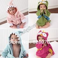 New Cute Baby Cotton Hodded Robes Infant Girl Boy Animal Cartoon Pattern Bathrobe Sleepwear Bath Towel 0-2 Years Old 18394 SV16