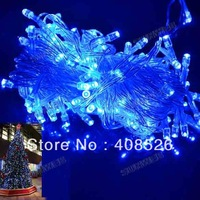10M 100 LED Blue Lights Decorative Christmas Party Festival Twinkle String Lights Bulb 220V EU FrDROPee shipping TK0199