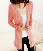 30 women's medium-long sweater cardigan cape outerwear