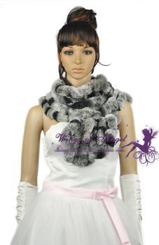 free shipping rubbit fur scarf  Stylish fur neck warmer scarf muffler headband  shawl scarves