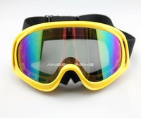 Ski Snowboard Snowmobile Motorcycle Goggles Off-Road Eyewear Yellow Frame Colour Lens T815-3