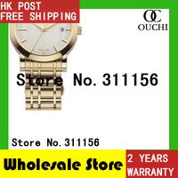 Free Shipping GOLD STAINLESS full STEEL MEN dress WATCH BU1393 casual fashion mens wrist top luxury brand quartz watches