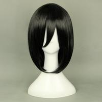 Free Shipping Short BOB Attack on Titan Mikasa Ackerman Black Anime Cosplay wig
