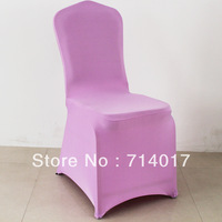 Hot Sale Free Shipping Four Side Stretch Ivory Spandex light purple Banquet Wedding Chair Cover Without Sashes for Wedding
