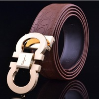 Brand fashion cowhide leather Men's buckle Belts