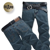 free shipping 2013 autumn and winter jeans men's clothing male straight slim jeans pants trousers male