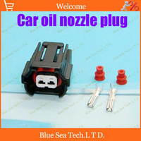 Free Shipping 10sets 2Pin 2.0 Oil nozzle plug,Fuel spray nozzle connector,Car waterproof electrical connector for car ect.
