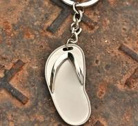 Wholesale 20PCS / lots High quality slipper keychain Keyfob keyring metal gift keychain - 7046