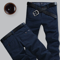 free shipping 2013 male casual pants fashion all-match trousers male 100% cotton straight casual pants male