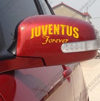 Car styling stickers Personalized football team for juventus car reflective rearview mirror reflective mirror sticker decal