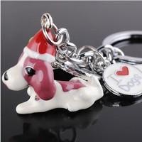 Wholesale 12PCS /lots High quality Key chain gift key chain dog design metal key holder - 1306056