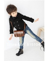 Children woolen coat Boys Double-breasted Cardigan Short Woolen Overcoat autumn long sleeve boys jacket children clothing y579