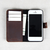 crazy horse leather for iphone5,leather for iphone wallet case,genuine wallet with credit card slots wholesale/dropshipping
