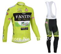 Hot Selling 2013  Winter Fleece/Thermal Fantini Bike Jersey(Upper)+Bib Pant(Lower)/Bicycle Wear/ Bikling Clothing/Cycle