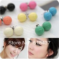 earrings/ pendant /earbob colourfull candy ball stud earring earrings free shipping