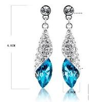 Earrings Austria crystal drop earring female fashion Dangling Earrings free shipping