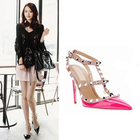 2013 street rivet pointed toe high-heeled shoes 222 - 1