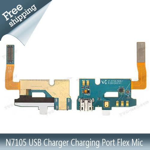 Pour samsung galaxy note2 n7105 chargeur usb port de charge flex micropour d'origine livraison gratuite