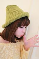 0822 casual roll-up yarn hem bucket hat
