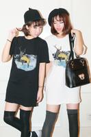 0822 sisters equipment onta fashion snow long design thickening roll-up hem short-sleeve sweatshirt one-piece dress
