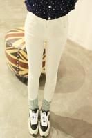 0905 all-match elastic basic pencil trousers skinny pants