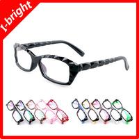 I-bright new fashion wholesale myopia optical glasses frame woman man unisex plain mirror transparent color pink free shipping