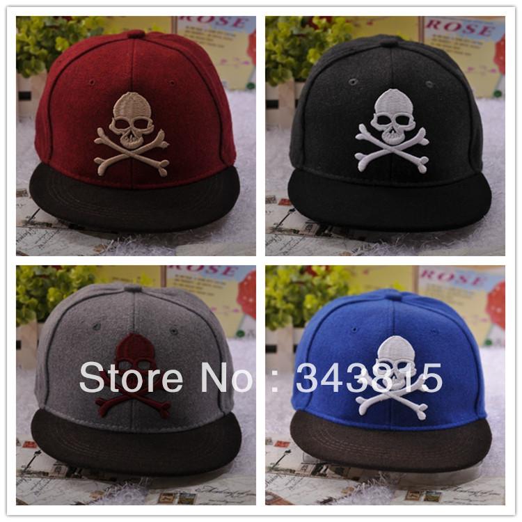 Hat autumn and winter woolen hat skull flat along cap navy cap hip-hop cap hiphop visors women's men baseball hat free shipping(China (Mainland))