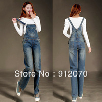 Hot-selling Women's Fashion denim overalls bib pants female spaghetti strap slim jeans pants jumpsuit S-XL
