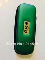 2pcs/lot green eGo Zipper Case w/Mesh Pockets For Electronic E Cigarette SIZE(155x60x40mm)