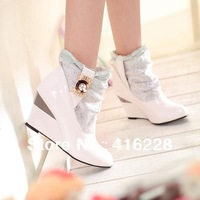 2013 fashion female sexy ladie wedge high heel ankle boots for women and women autumn winter shoes 35-39 black yellow white y588