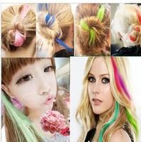 Factory price!50pcs/lot Lady/Women/Girls avril  wig piece fashion punk multicolour hair piece/hairpin/hairwear 15 colors M024