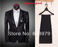 2013 mens floral blazer  personality flower patterns graphic casual slim fancy  suit high quality handsome  clothing  for men