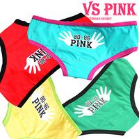 2014 new hand printing women sexy underwear; girl's lovely cotton briefs;  panties & lingerie;secret calcinha ; VS pink