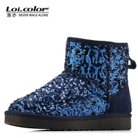 Loicolor paillette boots women snow boots waterproof boots 5854