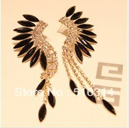 Christmas gift Fashion peacock 2013 tassel rhinestone stud earring earrings accessories female