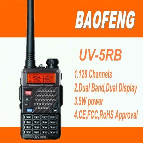 DHL freeshipping+4 sets/lot baofeng uv-5rb dual band long range walkie talkie 2 way radio 10km talk range uv5rb uv 5rb(China (Mainland))