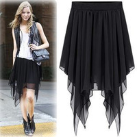 2013 female short skirt four seasons irregular chiffon bust skirt dress bust skirt pleated skirt basic skirt