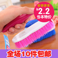 4448 candy color thickening hand-held laundry brush bath brush sink