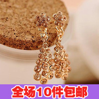 2761 accessories elegant champagne small flower drop stud earring earrings