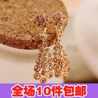 2761 accessories elegant champagne small flower drop stud earring earrings