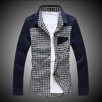 Semir design shirt male 100% cotton plaid sanded shirt male casual long-sleeve men's clothing top