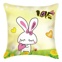 3D cross-stitch pillow case,Cartoon Love Rabbit,48*48cm,embroidery kit,decorative pillow,innovative items,cross stitching gifts