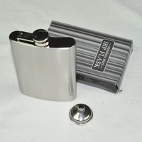 Free Shipping 5Pcs/Lot Hot-selling male hip flask querysystem hip flask portable 8 stainless steel hip flask funnel 144g