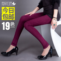 Spring and autumn deerskin velvet legging autumn female trousers legging