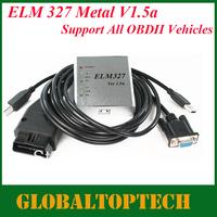 Free shipping!! 2013 New Arrival elm327 OBD/OBDII scanner ELM327 USB Metal car diagnostic USB interface elm327 scan tool