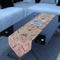 (30*183cm, 30*200cm)Free shipping luxury chenille yarn fashion classic fashion yarn dyed jacquard belt coffee table runner
