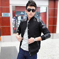 Plus size men's clothing male jacket 2013 autumn casual outerwear male slim stand collar jacket